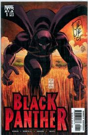 Black Panther #1 First Print (2005) Dynamic Forces Signed John Romita Jr DF COA Ltd 249 Marvel comic book